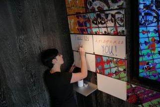Muzo team gets creative on Riveli folding shelving system with writable panels