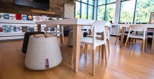 A creative space containing Muzo's Bebop seat