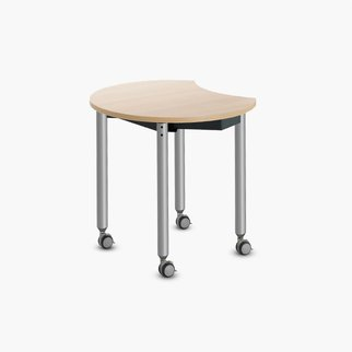 Single Muzo Kite table with jewel casters