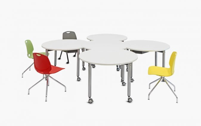 Mini Mobile tables from Muzo shown in one choice of configuration