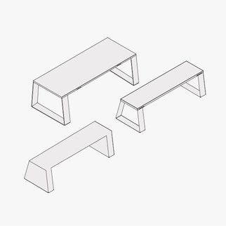 Drawings of Block table and benches