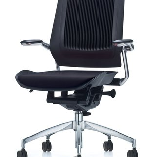 Black Bodyflex mobile task chair complete with auto-glide technology