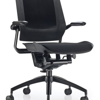 Black Bodyflex mobile task chair complete with auto-glide technology and black seat