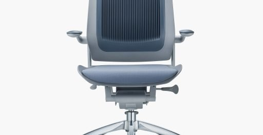 Muzo's Bodyflex chair with grey seat and active back
