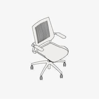Drawing of Bodyflex task chair