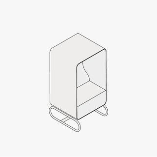 Drawing of Box Lounger sofa