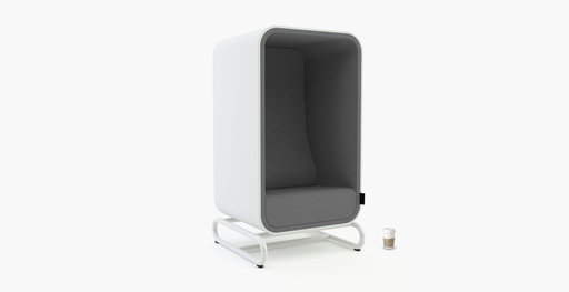 Muzo's Box Lounger with grey upholstered interior