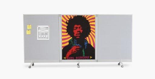 Jimi Hendrix artwork adorns Flow folding portable wall