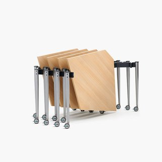 Muzo's Kite table folds for easy storage
