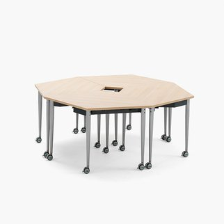 Four Muzo Kite tables joined as one