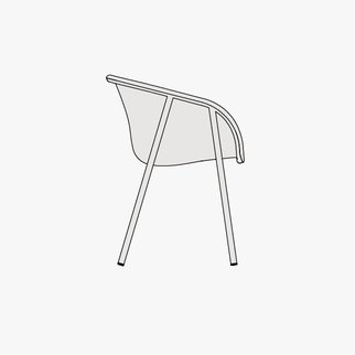 Drawing of LJ1 chair