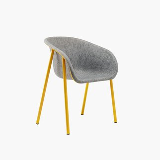 LJ1 lounge chair with customizable frame and shell