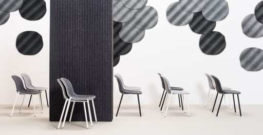 Collection of smart stacking and characterful LJ2 chairs