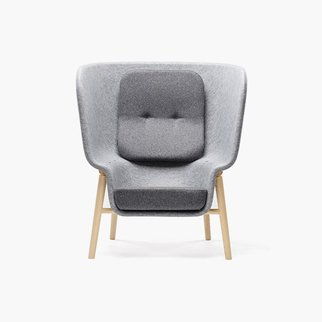 Muzo's M-Pod privacy chair with custom frame and shell