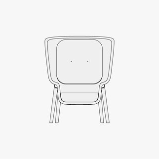 Drawing of M-Pod privacy chair