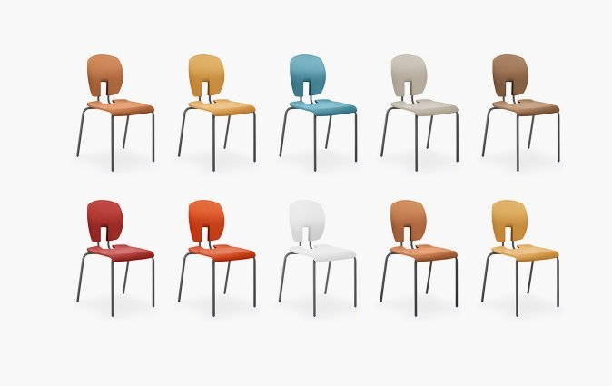 Muzo's Mix seats shown in various colors