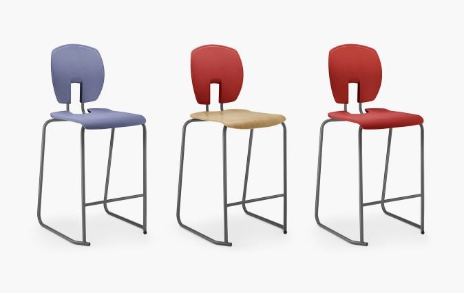 Muzo's Mix stool shown in various colors