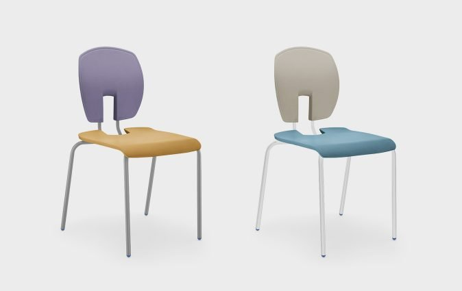 Muzo's Mix education seating shown in two designs