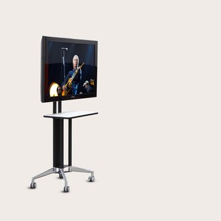 Modia portable media unit with jewel casters and up to 6 power socket spaces
