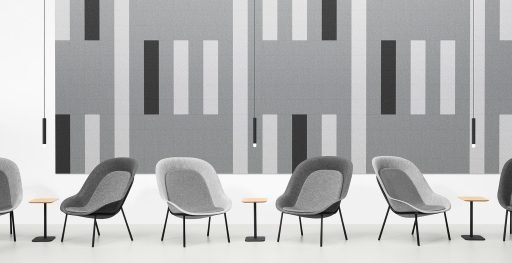 Muzo's Nook lunge chair series pictured in various muted colors