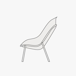 Drawing of Nook lounge chair