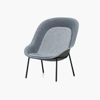 Nook lounge chair made from recycled and recyclable PET felt from Muzo