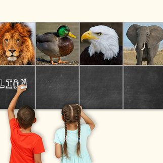 Custom children's PXL magnetic and writable wall panels