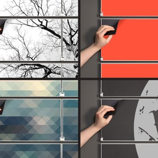 Riveli shelving system offers an easy way to enjoy changeable wall art in any setting