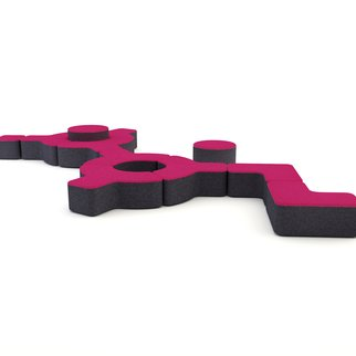 Signs modular seating system layout option