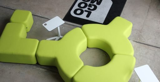 Lime green Signs modular seating system
