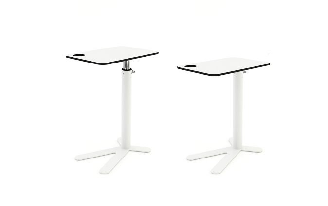 Two Space Chicken side tables with adjustable heights from Muzo