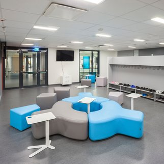 Sky blue and grey mix Signs modular seating system