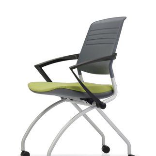 Switch mobile nesting chair with active back technology and optional armrests