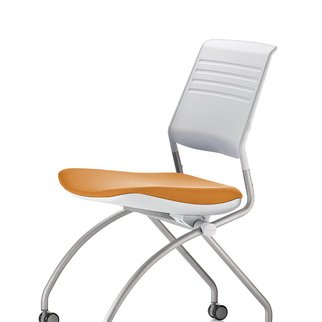Switch mobile nesting chair with active back technology - also available with optional armrests