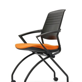 Black Switch mobile nesting chair with active back technology and optional armrests