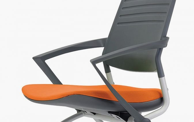 Close up of Switch mobile nesting chair with optional, comfortable armrests