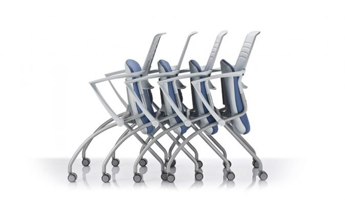 A collection of Switch mobile chair in nest formation
