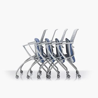 Muzo's Switch mobile chairs in nesting postion