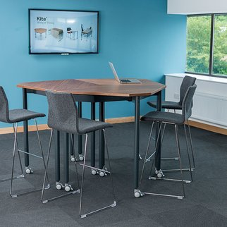 Tall Kite folding and nesting table - the ultimate stand and meet furniture addition