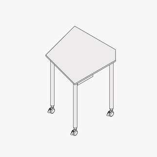 Drawing of Tall Kite table