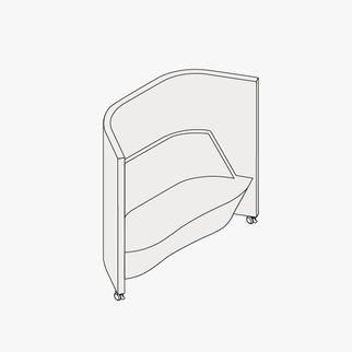 Drawing of Waltzer portable sofa