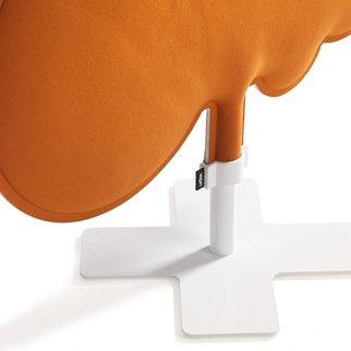 Close up of Woodland sound absorbing room divider in orange