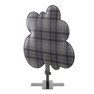 Woodland sound absorbing room divider in grey tartan