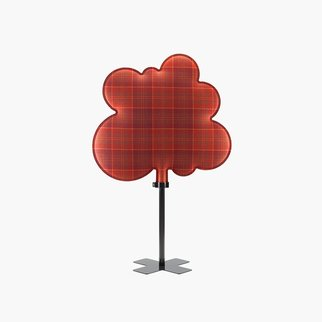 Woodland freestanding room divider in red tartan by Muzo