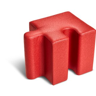 Muzo's Puzzle seating single piece in red