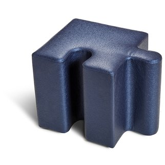 Muzo's Puzzle seating single piece in blue