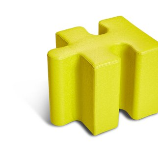 Muzo's Puzzle seating single piece in yellow