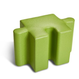 Muzo's Puzzle seating single piece in green