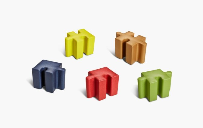 Puzzle seating separated and in various colors