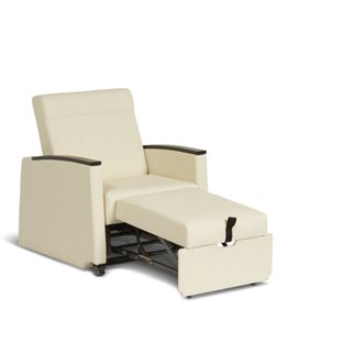 Muzo's Remedy nursing chair in chaise position